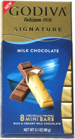 Godiva Signature Milk Chocolate 8 Mini Bars
