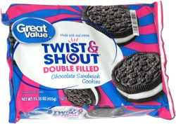 Great Value Twist & Shout Double Filled Chocolate Sandwich Cookies