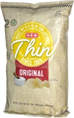 H-E-B Select Ingredients Thin Original Potato Chips