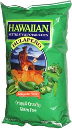 Hawaiian Kettle Style Potato Chips Hulapeño
