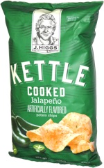J. Higgs Kettle Cooked Jalapeño Artificially Flavored Potato Chips