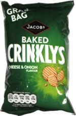 Jacob's Baked Crinklys Cheese & Onion