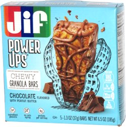 Jif Power Ups Chewy Granola Bars Chocolate Flavored with Peanut Butter