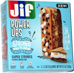 Jif Power Ups Stacked with 3 Layers Super S'mores Flavored Granola Bar