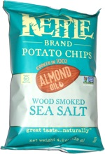 Kettle Chips Cooked in 100% Almond Oil Wood Smoked Sea Salt