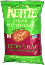 Kettle Chips Cooked in 100% Almond Oil Fiery Thai