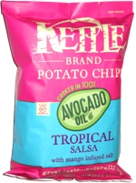 Kettle Chips Cooked in 100% Avocado Oil Tropical Salsa with Mango Infused Salt