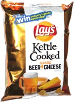 Lay's Kettle Cooked Classic Beer Cheese