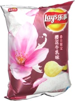 Lay's Spring Limited Edition Cherry Blossom Cow Milk Flavor