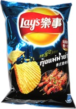 Lay's Thick Potato Chips Thai BBQ Shrimp