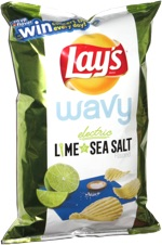 Lay's Wavy Electric Lime & Sea Salt