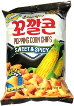 Lotte Popping Corn Chips Sweet & Spicy