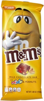 M&M's Bar Milk Chocolate with Minis & Peanuts