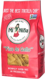 "Mi Niña White Corn Tortilla Chips ""Pico de Gallo"""