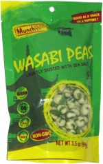 Munch Rite Wasabi Peas by Green Acres