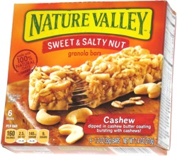 Nature Valley Sweet & Salty Nut Granola Bars Cashew