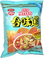 Nissin Cup Noodles Potato Chips Spicy Seafood Flavor