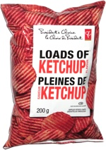President's Choice Loads of Ketchup Rippled Potato Chips