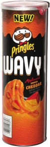 Pringles Wavy Applewood Smoked Cheddar