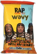 Rap Snacks Wavy Migos Bar-B-Quin' with My Honey with a Dab of Ranch