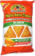 Smart Alex Mucho Nacho Cheese Popped Multi Grain Tortilla Chips