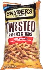 Snyder's of Hanover Twisted Pretzel Sticks Seasoned with a Dash of Onion, Garlic and Pepper