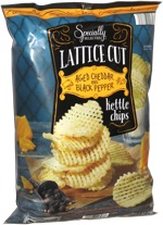 Specially Selected Lattice Cut Aged Cheddar and Black Pepper Kettle Chips