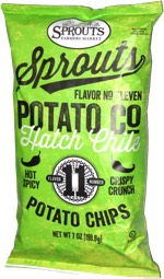 Sprouts Potato Co Kettle Style Chips Hatch Chili Flavor Number 11