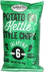 Sprouts Potato Co Kettle Style Chips Jalapeño Flavor Number 6