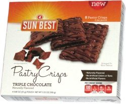 Sun Best Pastry Crisps Triple Chocolate