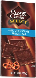 Sweet Smiles Select Milk Chocolate Pretzel Bar