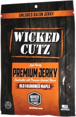 WIcked Cutz Jerky Handcrafted with Premium Uncured Bacon Old Fashioned Maple
