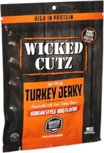 Wicked Cutz Turkey Jerky Korean Style BBQ Flavor