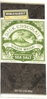 World Market Dark Chocolate Ginger Wasabi with Mediterranean Sea Salt